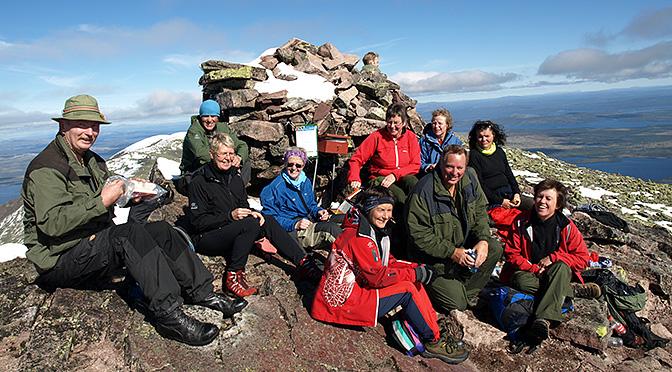 Turgruppa på Jubileumstur til Sølen 1755 moh