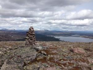 Utsikt fra Veslesølen mot Sølensjøen